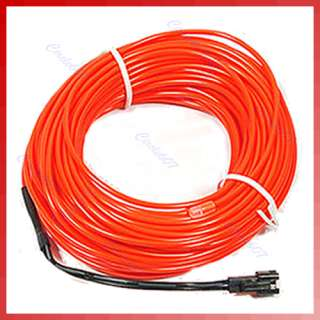 33 Flexible Neon Red Glow Light EL Wire Rope 110V 220V