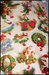 DAYS OF CHRISTMAS Felt Ornaments Kit  Partridge In A Pear Tree