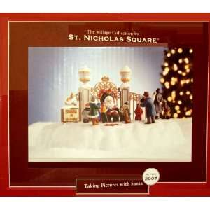 St Nicholas Square Taking Pictures with Santa (mr christmas):