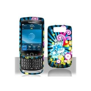 BlackBerry Torch 9800 Graphic Rubberized Shield Hard Case   Neon