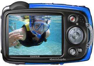 Fuji Finepix XP20 14MP 5 meter Waterproof HD Digital Camera Blue