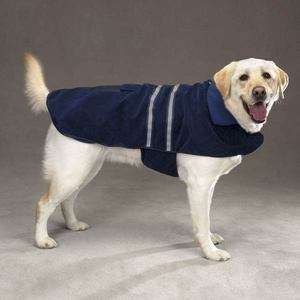 Casual Canine Reflective FLEECE DOG Coat Winter Jacket NAVY Clothes