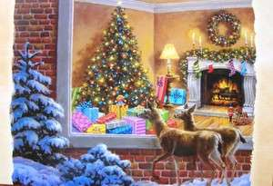 Artist Nicky Boehme YOU BETTER BE GOOD CHRISTMAS Greeting CARD