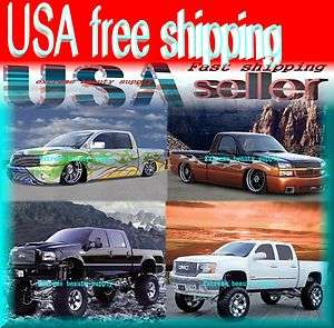 custom 4x4 Chevrolet ford Dodge GMC pick up trucks 2012 wall calendar