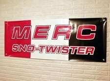 Vintage Merc Mercury Sno Twister Snowmobile Banner