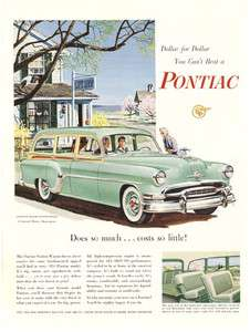 1954 PONTIAC Chieftan DELUXE Station Wagon CAR AD