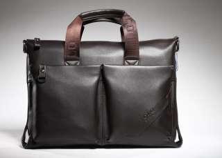 Mens Synthetic Leather Laptop Messenger Bag Briefcase Satchel ACM9