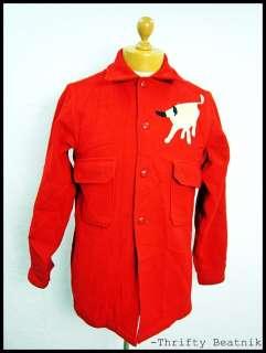 Vintage 1980s Lumberjack Boy Scouts Of America Red Toro Bull Jacket