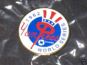 NEW YORK YANKEES 1962 WORLD SERIES PRESS PINS*LOT of 25*CHASE 15th