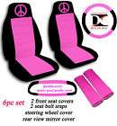 special set peace sign car seat covers black purple,OTHER COLORS