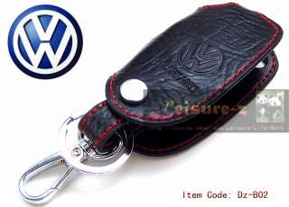Smart Key Leather Holder Cover Case Fob Remote PASSAT GOLF BORA