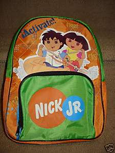 nick jr.dora & diego small mini lightweight backpack