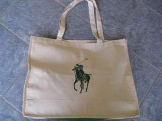 POLO RALPH LAUREN BIG PONY NEW Organic Canvas Shopping Tote Bag