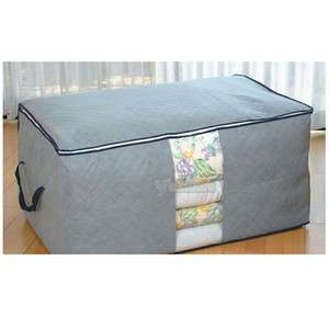 Large Clothes Storage Bags Bamboo fiber Quilt Container