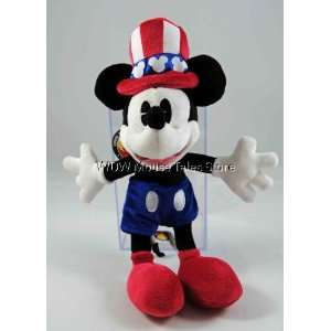 Disney Park Patriotic Uncle Sam Mickey Mouse Plush Doll