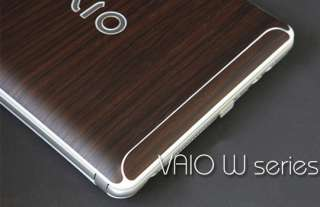 Sony VAIO W Series Laptop Cover Skin   Walnut Wood