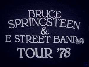 Bruce Springsteen E Street 1978 Tour Womens T Shirt