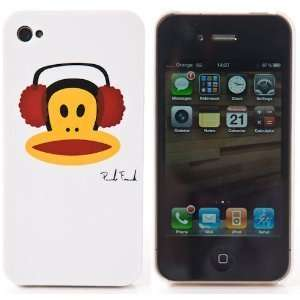Monkey iPhone 4 Hard Case Cover Only White Red Black