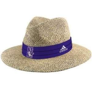 adidas Northwestern Wildcats Official Team Straw Hat