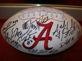 2011 ALABAMA CRIMSON TIDE TEAM SIGNED FOOTBALL W/45++ TRENT RICHARDSON