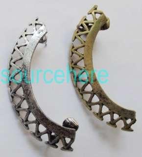 Womens Punk Gothic BOHO Ear Cuff Stud Clip Wrap Vintage Gold Silver