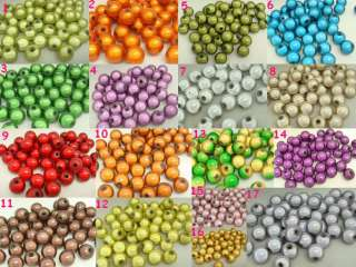 10mm 50g 60pcs various color Round Acrylic Miracle Magic Charm Loose