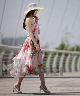 Sexy women dress CONVERTIBLE DRESS Floral chiffon maxi dress skirt