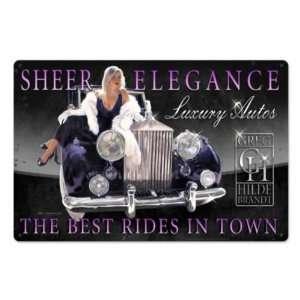 Elegance Pin Up Hot Rod Luxury Car Auto Vintage Metal Sign
