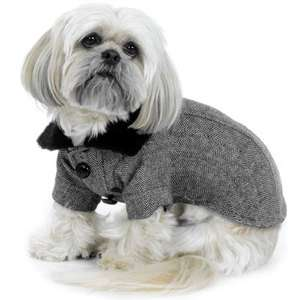 Dog coat size XS Extra Small black and white herringbone ADORABLE