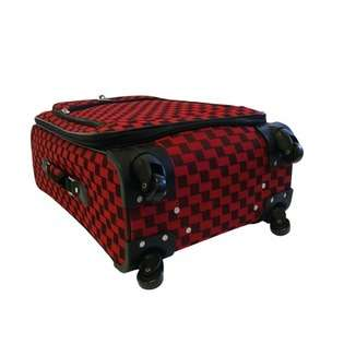 American Flyer Madrid 5 Piece Spinner Luggage Set   Color Red at