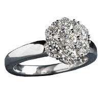 46 ct. t.w. Regal Diamond Flower Ring (I, VS2)    Sams