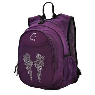 In One Pre School Backpack with Cooler in Bling Rhinestone Angel Wings