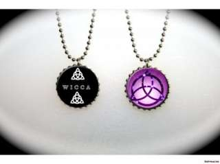 Triquetra Pagan Wiccan Celtic Symbol 2 sided necklace