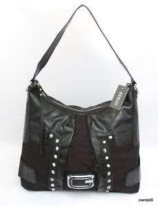 NWT GUESS *SYLVIE LARGE HOBO BAG HANDBAG TOTE ~BLACK
