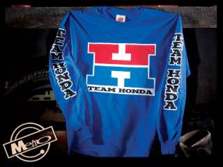 Metro Racing Team Honda Vintage Motorcycle Mens Long Sleeved T Shirt