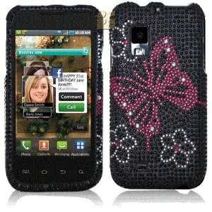 Pc Gem Bling Case + LCD Screen Protector for Samsung Fascinate i500