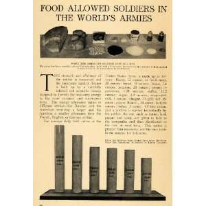 1915 Article World War I Army Soldiers Food Rations