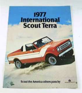 1977 77 International SCOUT TERRA Truck BROCHURE
