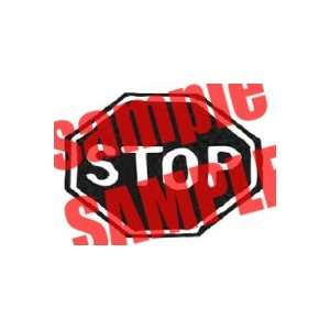 STOP SIGN WHITE VINYL DECAL STICKER