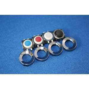 4x Blackberry Trackball Joystick (White, Black, Blue, Red