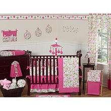 JoJo Designs Pink and Green Mod Circles Collection 9 Piece Crib