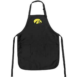 Iowa UI Hawkeyes Embroidered Hawkeye Logo Apron: Kitchen