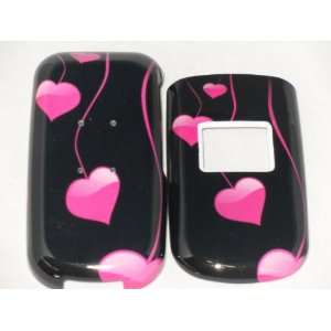Lg220c Pink Heart Black Cute Design Hard Case Cover Skin