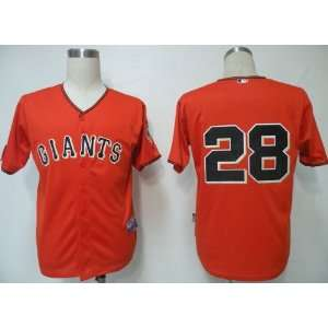 2012 San Francisco Giants 28 Buster Posey Orange Jersey
