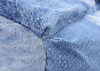 Blue Large Denim Women Hobo Shoulder Bag Cotton Handbag Tote Shopping