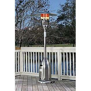 47,000 BTU Deluxe Stainless Steel LPG Patio Heater  Fire Sense Outdoor
