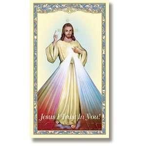 Divine Mercy Chaplet Holy Prayer Card New Design Laminated