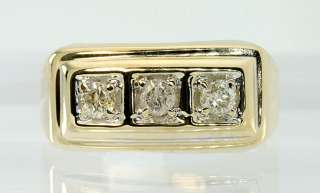 ROUND DIAMOND MENS 14K YELLOW GOLD SCULPTURED PINKY RING SALE