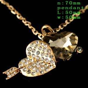 Crystal Mickey Mouse Costume Chain Necklace Pendant 70cm