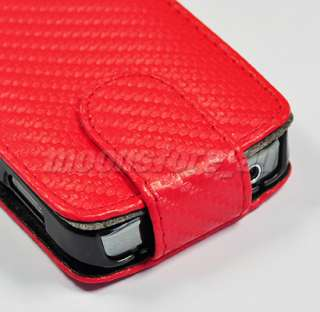 FLIP LEATHER CASE COVER FR SAMSUNG GALAXY ACE S5830 RED